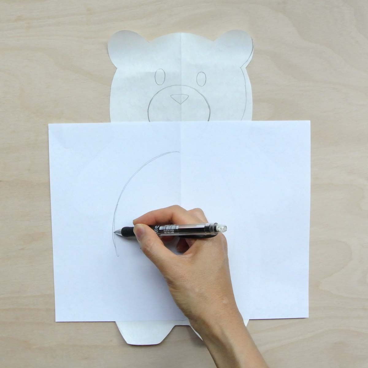 Bear Plush Pattern Tracing Accessory Pattern (belly). How to Make Plushie Tutorial