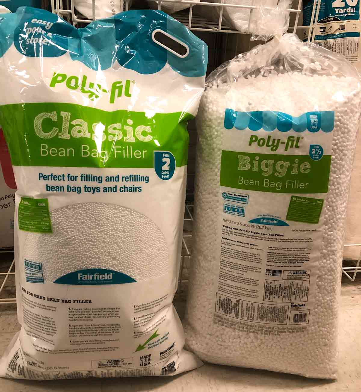 Poly Fil Bean Bag Filler Large and Small Size