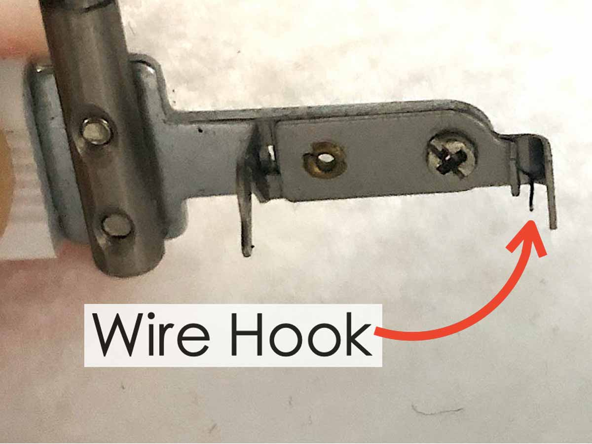 Tip of Sewing Machine Needle Threader with Wire Hook in the Middle