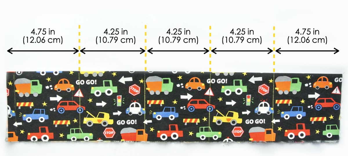 Marking Measurements for Toy Car Carrier Pockets
