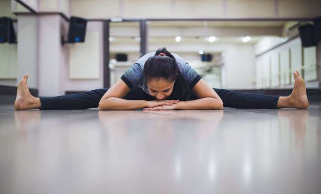 What are some yoga poses or stretches to help insomnia? 2