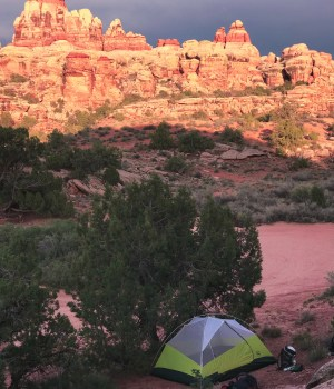camping in the backcountry of Canyonlands national park needles district