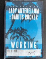 Lady A and Darius Rucker work badge
