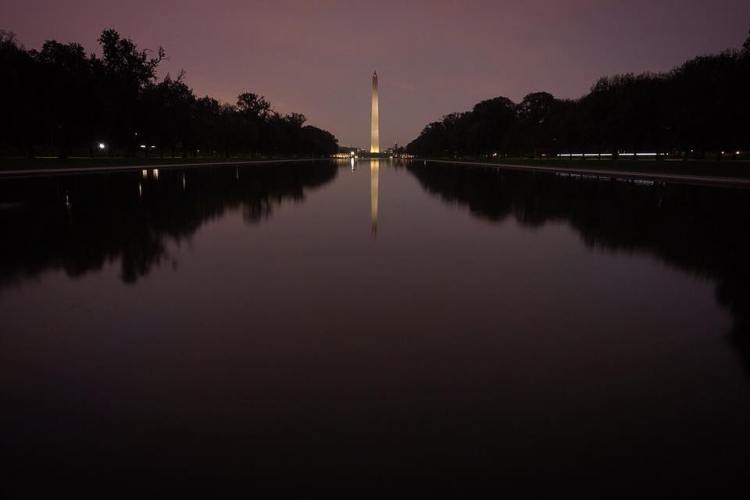 Washington Monument at Night Photo
