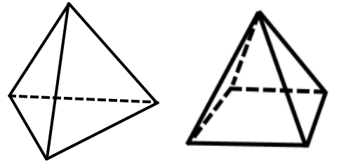 how to draw a tetrahedron on paper