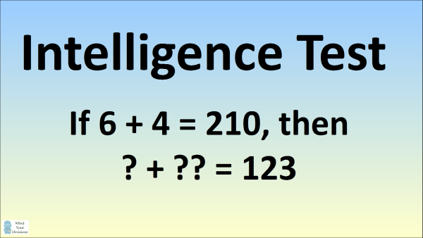 6 + 4 = 210 Intelligence Test Explained – Mind Your Decisions