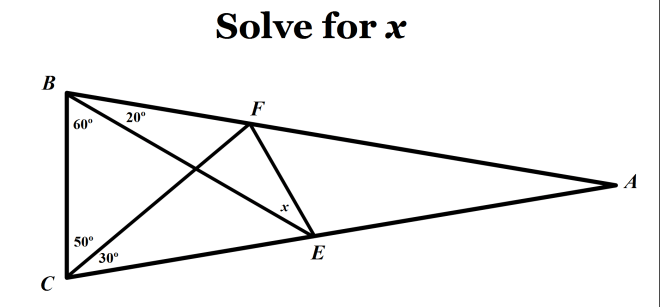 the hardest easy geometry problem sunday puzzle mind your  hardest easy geometry problem langleys adventitious angles