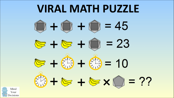 The Bananas, Clock, Hexagon Viral Logic Puzzle u2013 Mind Your ...