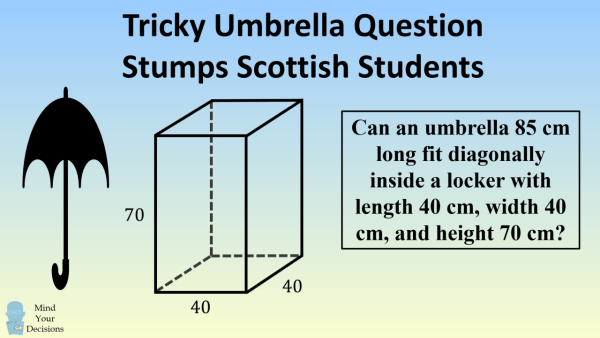 Tricky Umbrella Question Stumps Scottish Students – Mind