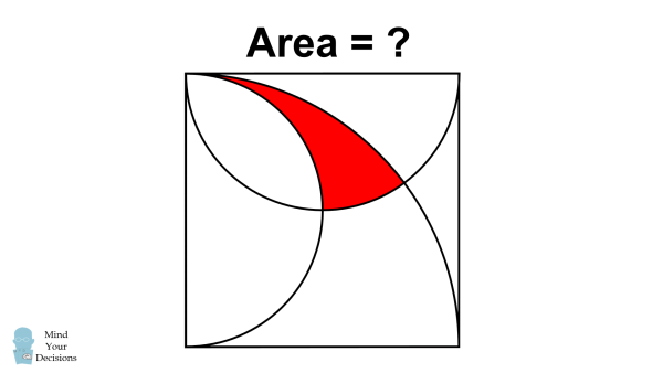 solve for the shaded area challenging geometry problem