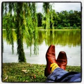 Lounging in one of my childhood's favorite parks.