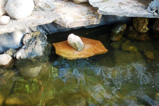 Waterfall Pump Clog 10_Waterfall Filter system hidden under a rock