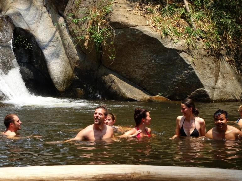 Baden im Wasserfall