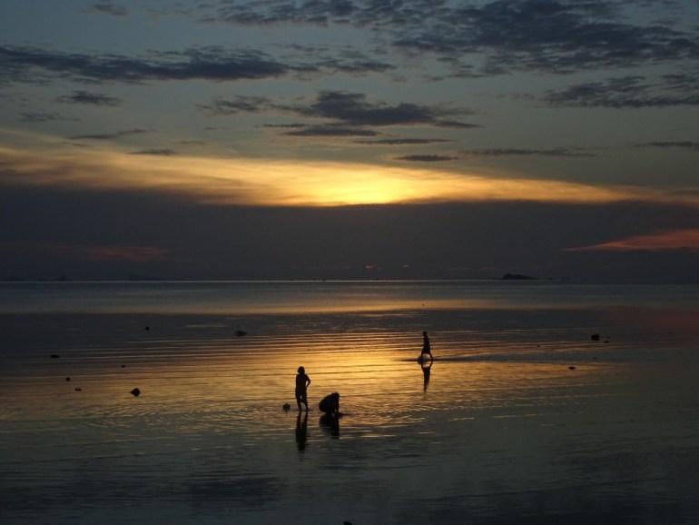 Fischen nach Meeresfrüchten auf Koh Phangan