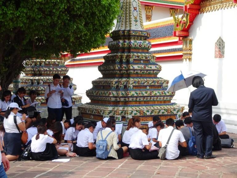 Lernen fürs Leben Wat Pho Bangkok