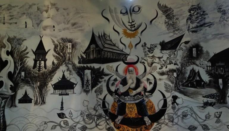 Schwarzer Tempel Chiang Rai Gemälde