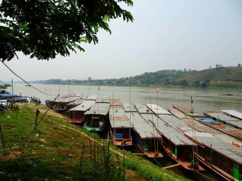 Slow Boat Pier Huay Xai Mekong