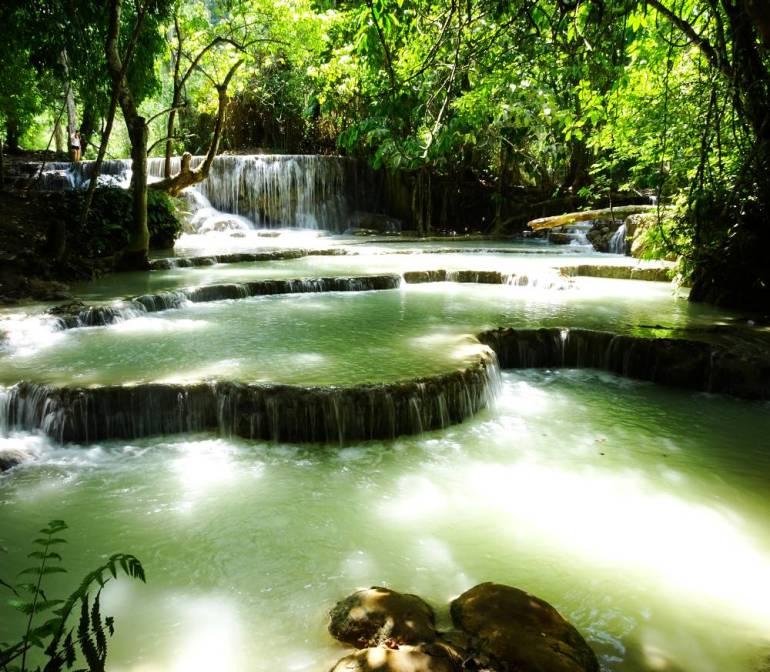 Kuang Si Wasserfälle Kaskaden