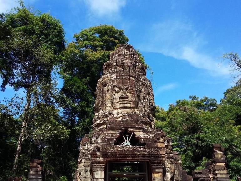 Angkor Wat Tempel mit Gesicht