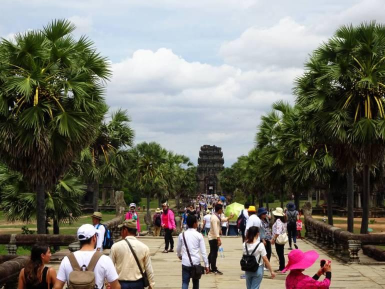 Angkor Wat Touristen