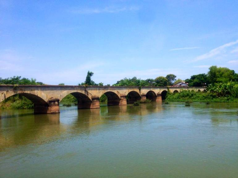 Französische Brücke zwischen Don Det und Don Khon