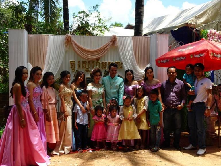 Kambodschanische Hochzeit bei Battambang