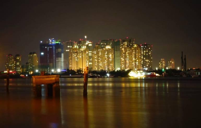 Ho Chi Minh Stadt Skyline bei Nacht