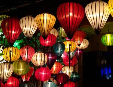 Lampions zum Laternenfest in Hoi An