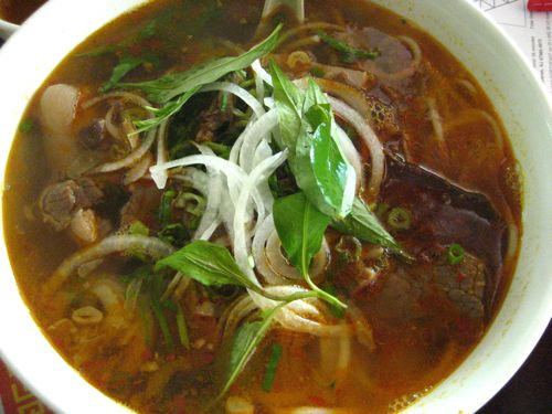 bun bo hue - savory, spicy, meaty and perfect.