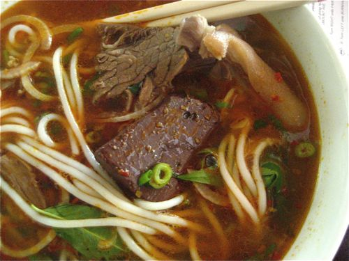 do you see that red clay color???  if you order bun bo and it doesn't look like this, push the bowl away from you and ask for the check.