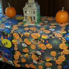 Dollar Tree Pumpkin Chair Covers Office Furniture Chairs October 2016 Page 2 A Falling Tale My Side Table Is The Resting Place For Haunted Cookie Jar And Two Of Small Pumpkins