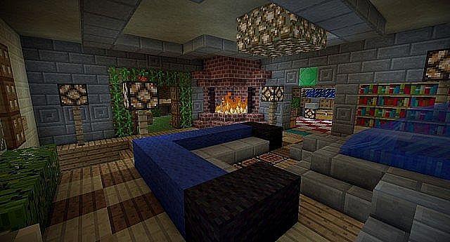 Intérieur De La Maison Interieur Maison Medieval Minecraft