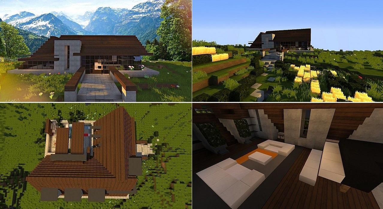 Top 5 des maisons modernes minecraft  Minecraftaventurecom