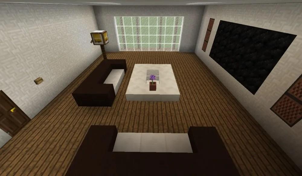 Modernes Wohnzimmer in Minecraft bauen  minecraftbauideende
