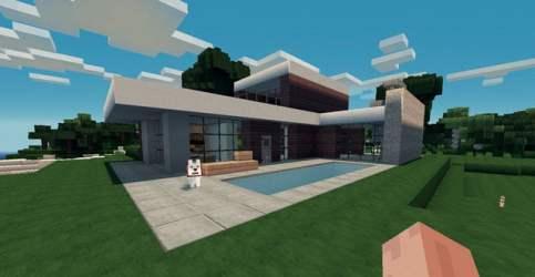 Planos para una Casa Moderna Minecraft for free
