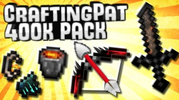 CraftingPat Resource Pack 400k 1.8/1.7 Jaba