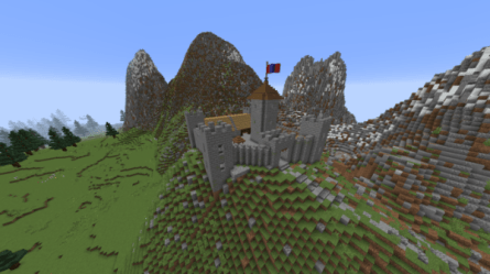 minecraft castle medieval village map build