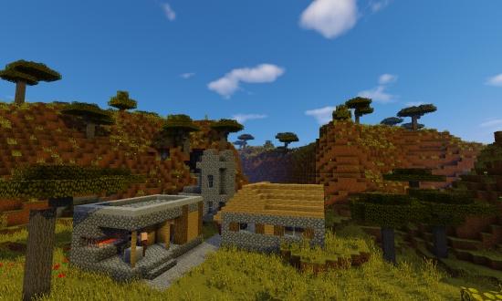 Cool Savannah Village Minecraft Seeds