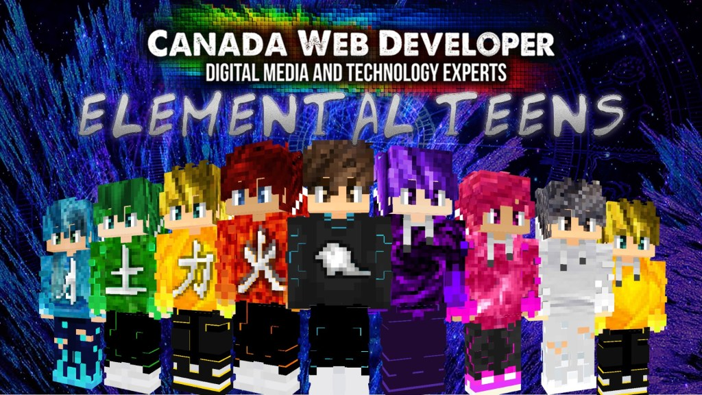 Elemental Teens brings your personality, character, and knowledge to Minecraft, pick your power and be ready for everything! Made for true gamers with strong influence. 15 HD skins (128px) including: - 1 free exclusive skin by: Dannny0117 - 14 styles representing the elemental powers with and without signs Created and Published by: Dannny0117 + Canada Web Developer.