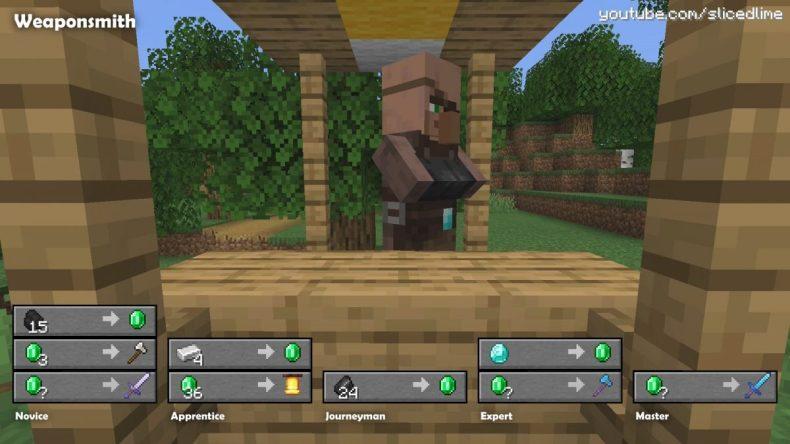 Fabricante de herramientas de intercambio comercial de Minecraft Village