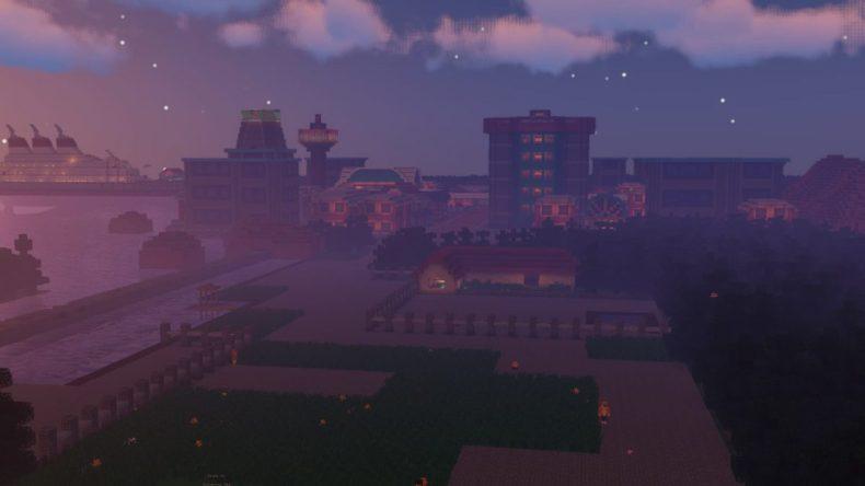 Una ciudad de Pokémon recreada en este mapa para Pixelmon