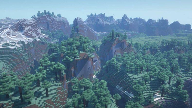 semilla de minecraft 1.16 hermoso bosque de la colina
