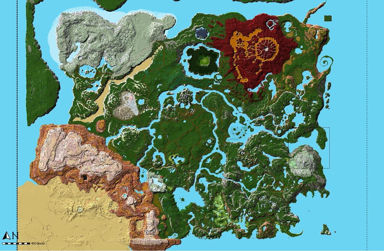 La map de Zelda Breath Of The Wild (Hyrule) dans Minecraft • Minecraft.fr