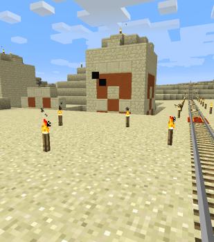 砂漠の寺院に寄り道
