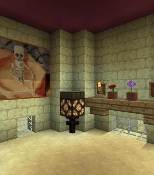 城壁の通路を繋ぐ塔の中を装飾