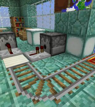 駅の中を作ってみました