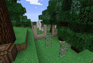 そこには墓地が