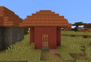 赤いテラコッタの家