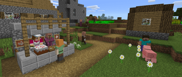 Villager Trading comes to pocket/Win 10! Minecraft