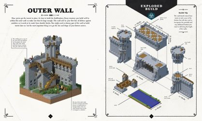 minecraft medieval fortress castle builds exploded blueprints build walls empire mojang building alert official survival castles mansion guidebook mighty gamegrin
